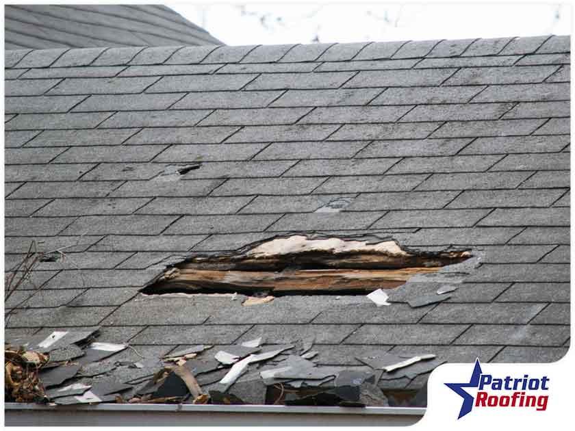 wind damage on roof