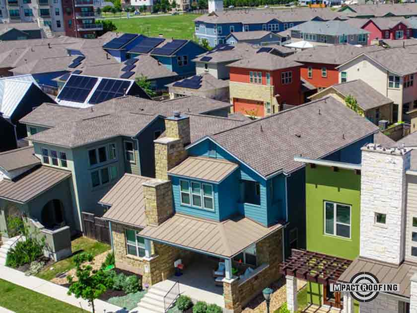 residential asphalt shingle roofing metal gutters