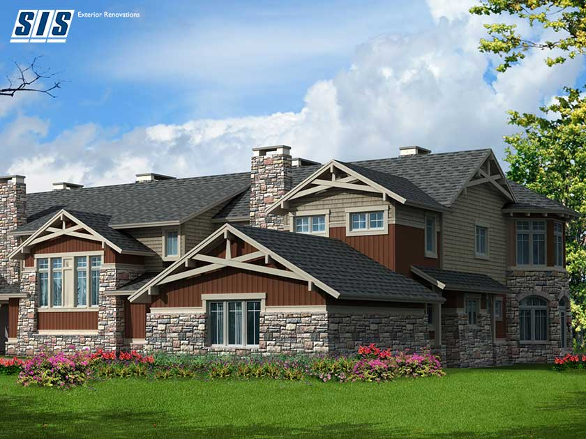 mixed texture home exterior