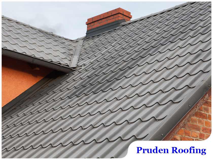 Metal tile roofing