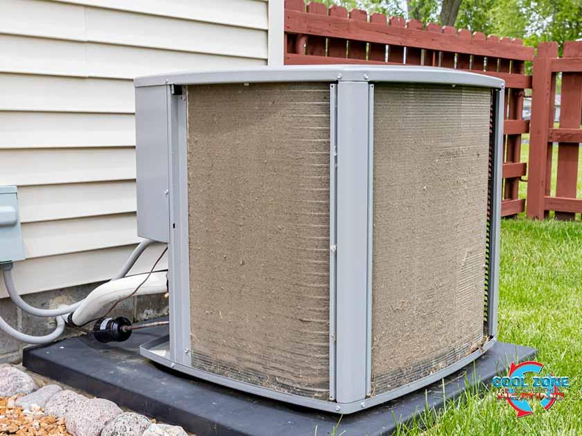 dusty outdoor AC unit