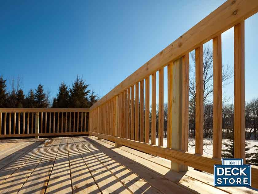 Winter Deck Building