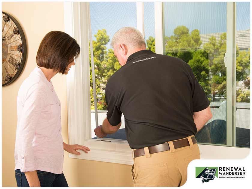 Installer demonstrating newly installed window