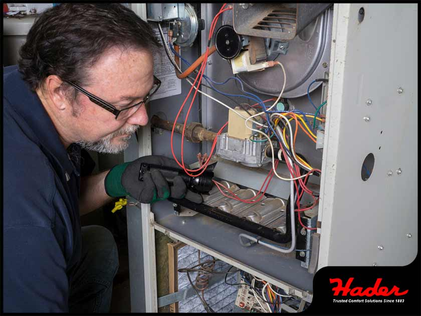 hvac technician furnace inspection chimney repair