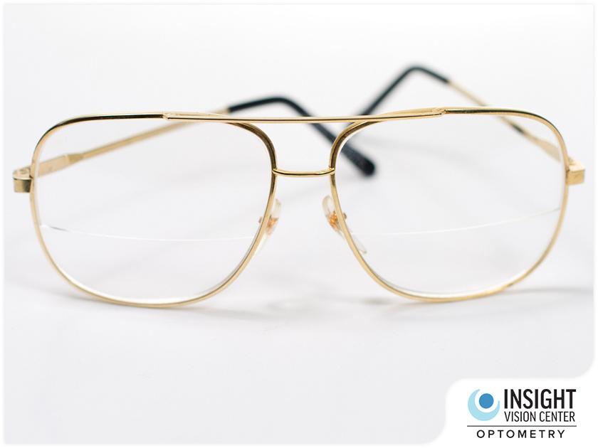 bifocal eyeglasses metal frame vision therapy