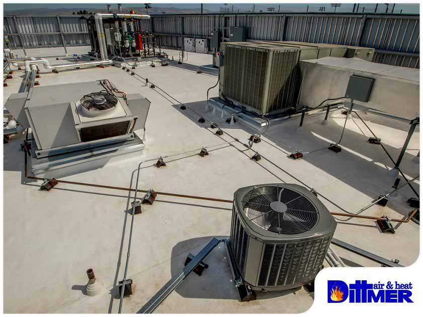 commercial hvac system outdoor unit rooftop hvac maintenance