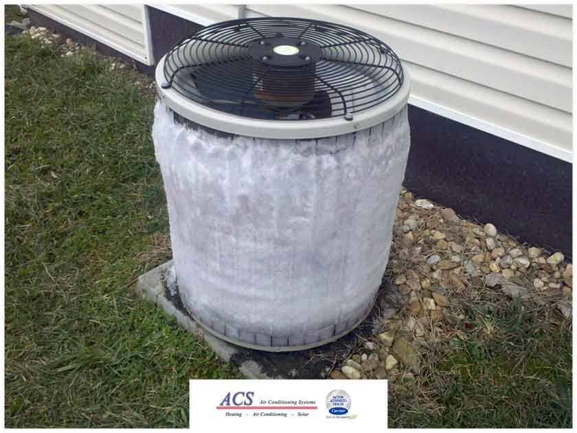 ductless air conditioner frozen heat pump