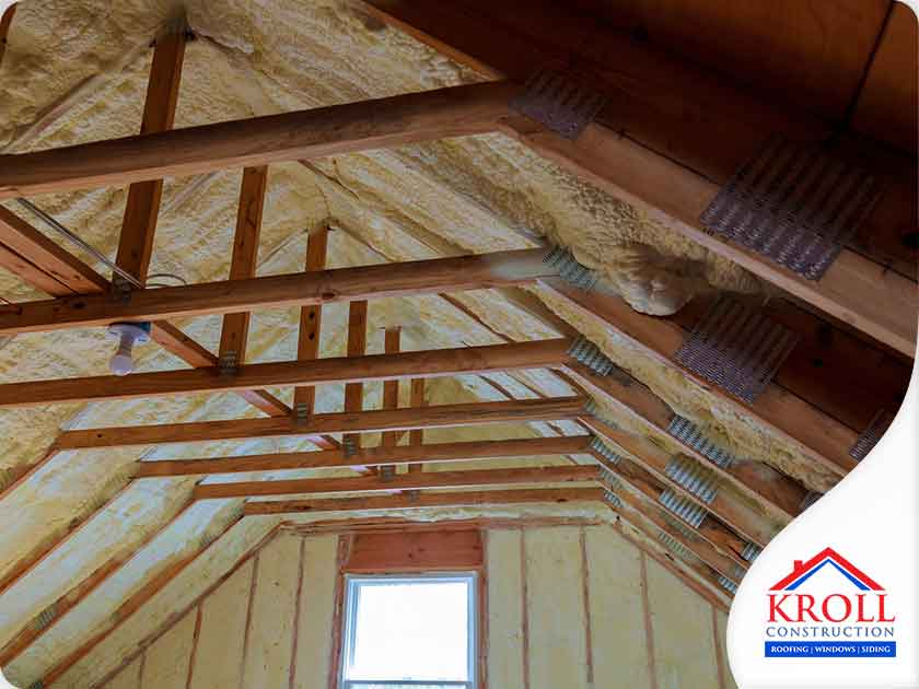 attic foam insulation roofing wood window replacement