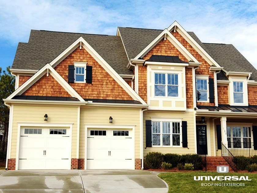 Home facade with siding