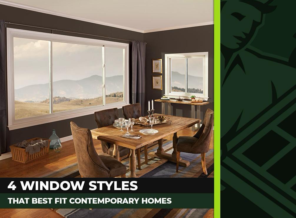 4 Window Styles That Best Fit Contemporary Homes