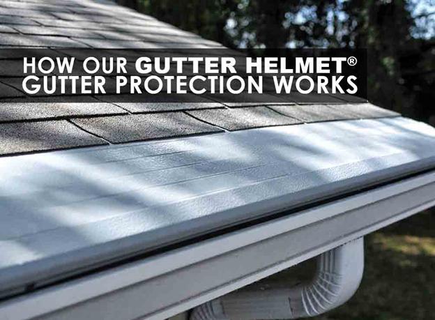 How our gutter helmet gutter protection works for Gutter helmet
