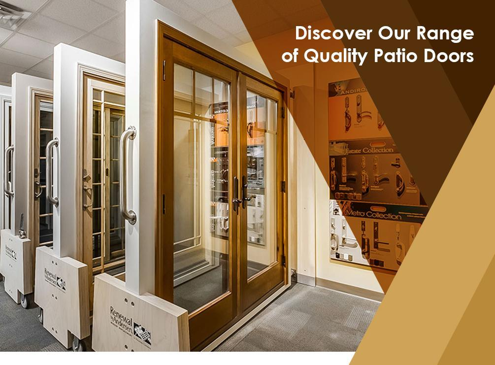 Discover Our Range Of Quality Patio Doors